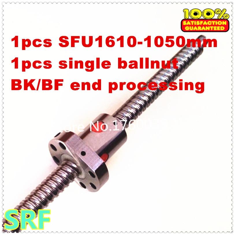Ballscrew 1610 assembly 1pcs 16mm diameter  L=1050mm-C7 with 1pcs single ball nut + end machining<br><br>Aliexpress