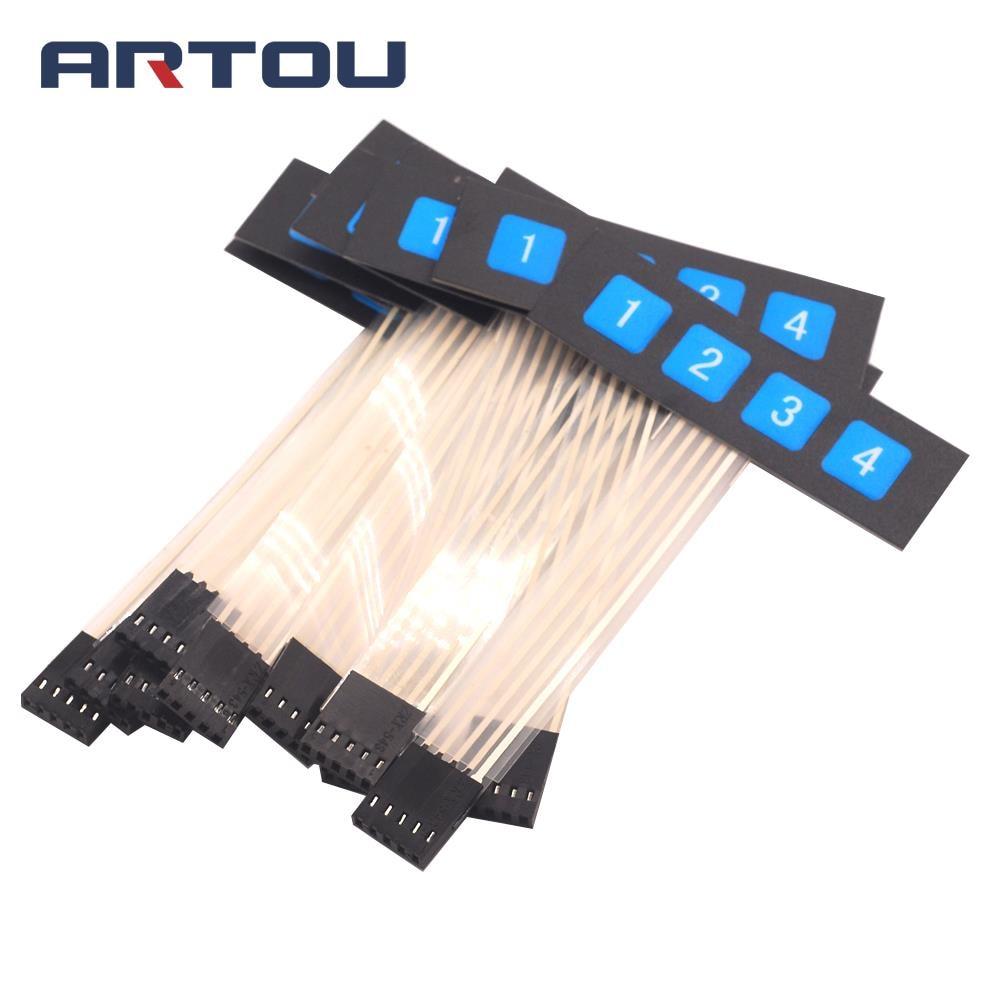 1PCS 1*4 key 1 Row 4 Button Membrane Matrix Keyboard Switch Microcontroller Expansion
