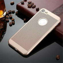 Ultra Thin Phone Cover Case For iPhone 7 7 Plus Mesh Design Hard PC Cases For iPhone 6 6s Plus Cell Phone Fundas(China)