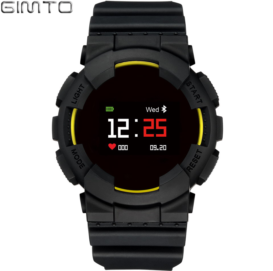 GIMTO Cool Sport Smart Watch Men Bracelet Waterproof Digital Military Clock Heart Rate Blood Pressure Smartwatch For iOS Android<br>