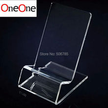 wholesale 500pcs Acrylic Cell phone mobile phone Display Stands Holder stand for 6inch iphone and samsung