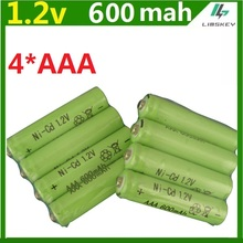 4psc/lot  600mah AAA remote control toy rechargeable Ni MH rechargeable battery AAA 1.2V 600mAH free shipping