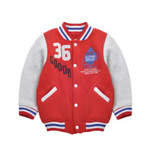 2016 Outwear For Children Brand Kids Coats For Boys Baseball Sweatershirt Classic nostalgia baseball clothing north facce jacket