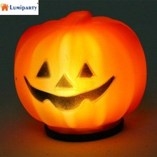 LumiParty Plastic Halloween Pumpkin Orange LED Jack-O-Lantern Light for Festival Home Prop Decoration-35