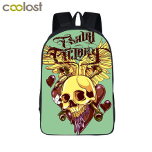 3D Print Skull School Bags Hip Hop Bags Tattoo Laptop Backpack for Teenage Girls boys Hot Rock Children School Backpack Bookbag(China)