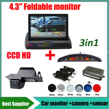 parking sensor+ car rear view parking camera for Buick GL8 Opel Vectra Chevrolet Aveo Cruze wagon Cadillas SRX CTS + car monitor