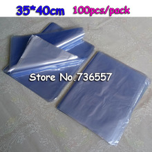 35*40cm Soft Transparent Blow Molding PVC Heat Shrinkable Bags Shrink Film Wrap Cosmetic Packaging Wrap Materials Plastic Bag