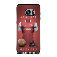 Custom football Jersey Shirts ARSENAL Cover Case for Samsung Galaxy S3 S4 S5 mini S6 S7 edge plus active Note 2 3 4 5 7 Silicon