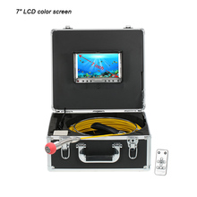 "7"" LCD 960TVL Professional  Fish Finder 12pcs LED light with Cable Reel Remote Control 304 stainless steel camera Fish Detector"