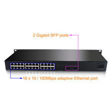 Ethernet Switch 24 port 10 / 100 Mbps with 2 port Gigabit SFP Switch network switch 24 port RJ45 switch(China)