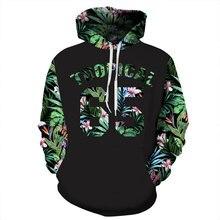 Green Leaves 3D Printed Floral Hoodie Men Hip Hop Streetwear Weed Male Sweatshirt Hooded Graphic Flowers Sweatshirts Spring