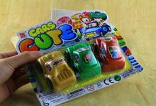 3pcs/pack children vehicle car toys/ Kids plastic multi color cartoon car model pull back CE certificate traffic, fast shipping