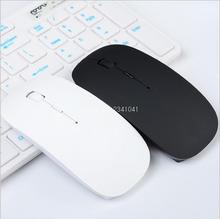 Ultra Thin USB Optical Wireless Mouse 2.4G Receiver Super Slim Mouse For Computer PC Laptop Desktop black white Candy color