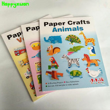 Happyxuan Handmade DIY Origami Books Paper Crafts Animals Vehicles Toys Children Fun Handmade Puzzle Learning Education Games