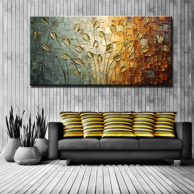Free Shipping Handmade Texture Huge Abstract Oil Painting Modern Canvas Art Decorative Knife Flower Paintings For Wall Decor(China (Mainland))