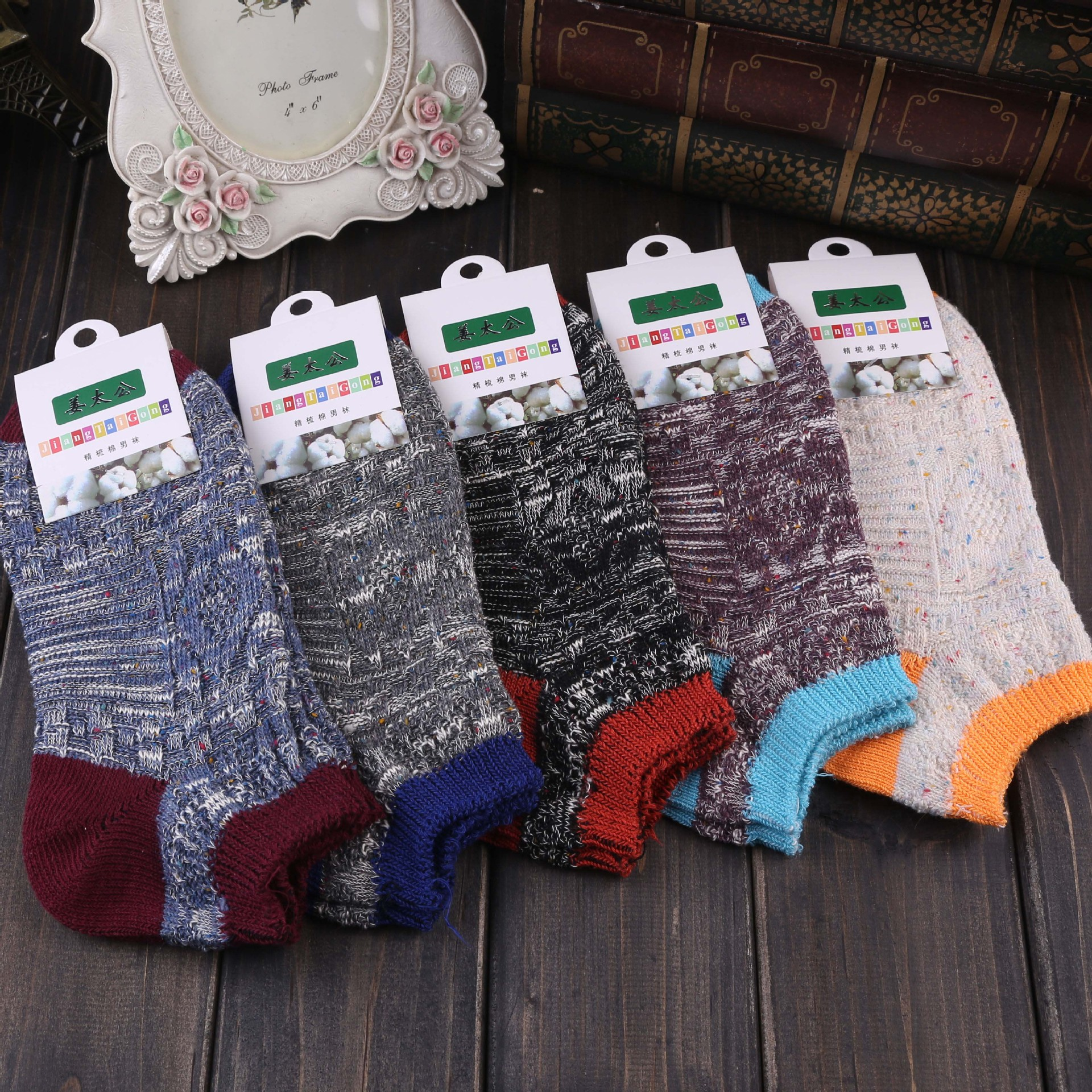 10Pairs/Lot New spring and summer men's socks and stealth Skull Pattern personality socks cotton socks wholesale