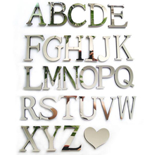 New Style Wedding Love Letters Home Decoration English Mirror Wall Stickers Alphabet Home Decor For Wall(China)