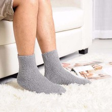 Buy 2017 Fashion Extremely Cozy Cashmere Socks Men Women Winter Warm Sleep Bed Floor Home Fluffy Socks for $1.22 in AliExpress store