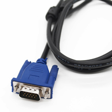 Top Quality Hot Blue 1.5M 15 PIN VGA HDB15 SUPER VGA M/M Male To Male Connector Cable Cord Extension Monitor FOR PC TV