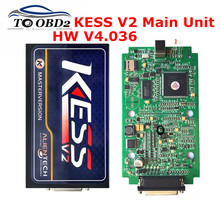 Hot Sale 2017 Newest KESS V2 Main Unit HW4.036 SW2.30(Free Provide Download Software) ECM_TITANIUM_161 No Tokens Limited KESS V2(China)
