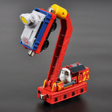 X153 Thomas Small Train Alloy Magnet Toy Mini Train Lodge Yellow Crimp Head has a magnet