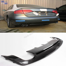 A4 S4 Carbon fiber rear bumper lip Auto Car Rear diffuser for Audi A4 B8 Sline bumper 2009-2012