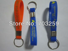 500pcs/lot cheap keychain EG-SKR002 promotional custom key rings with solid color printed design(China)