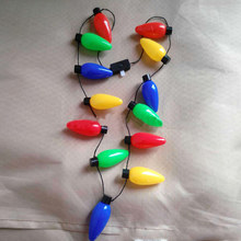 Plastic Flashlight Luminous Christmas Festival Necklace LED Light Up Party Bulb Necklaces For Adults Kids @LS(China)
