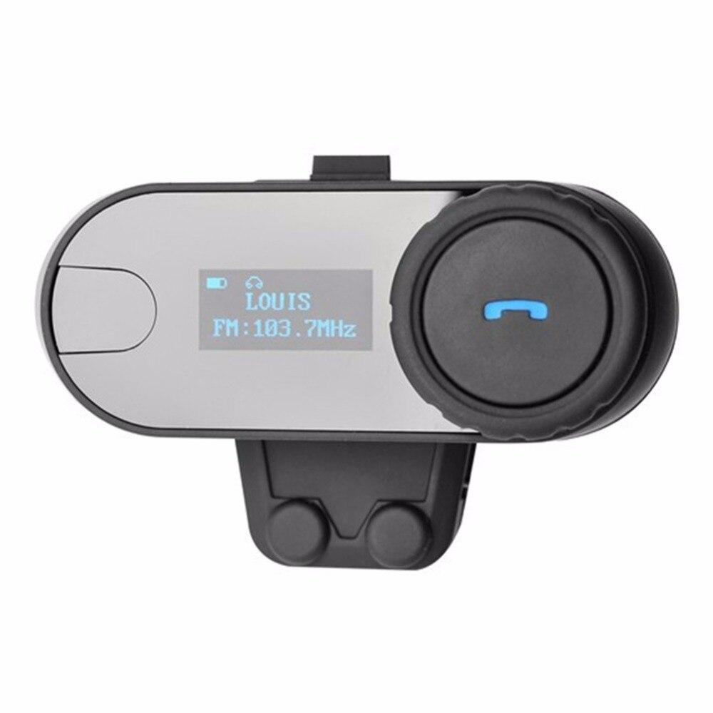FDC TCOM SC BT Bluetooth Headphones Motorcycle Helmet Intercom Motorcycle Interphone Headset LCD Screen FM Radio Volume Control