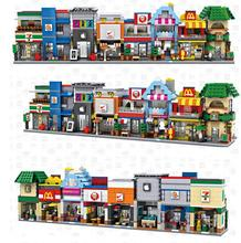 LOZ Mini Block Street Shop DIY Building Toys Cute Mini Store coffee Auction Figure for Christmas Gift Toys For Children1601-1608