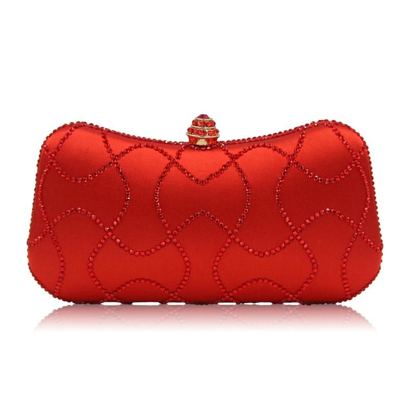 European And America Style Rhinestone Women Wallet Women Evening Clutch Bag Clutch Bag Party Bag Woman Handbag<br>