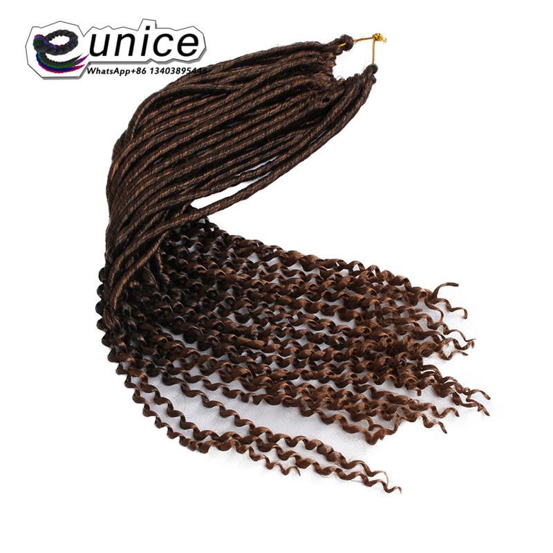 Goddess Faux Locs Crochet Hair Curly Ends Dreadlocks hair extensions  (71)