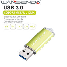 New arrival WSD Colorful Metal usb flash drive USB 3.0 128gb 8gb 16gb 32gb 64gb usb flash memory pen drive usb stick Waterproof(China)