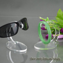 Newest 2015 Acrylic Sunglasses Display Rack Eyeglasses Showing Stand Bracelet Holder Ankle Showcase Watch Hanger(China)