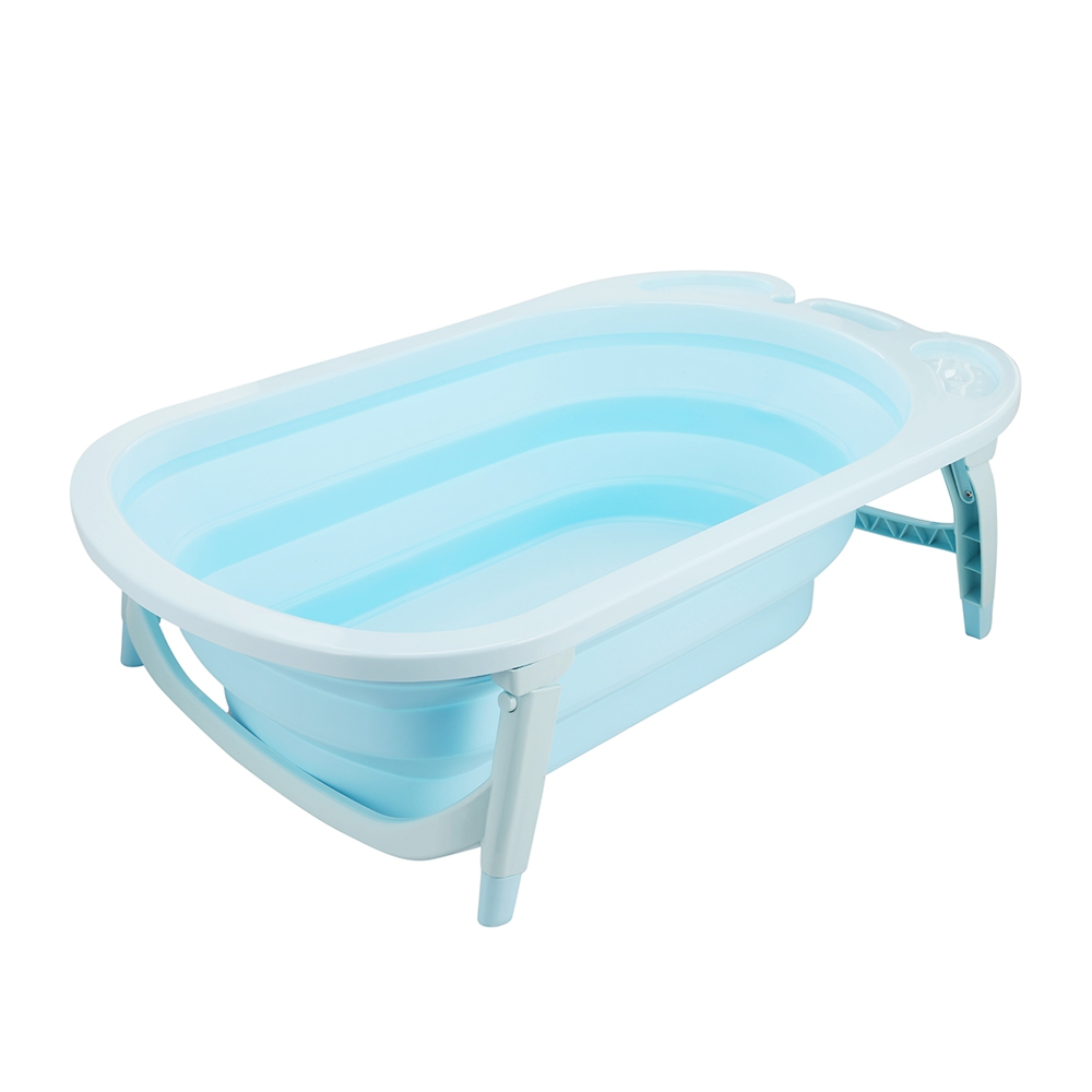 3 Colors Portable Folding Baby Bath Tub Large Size Anti-Slip Bottom Non-Toxic Material Children Bathtub Bucket for Baby Bathing (5)