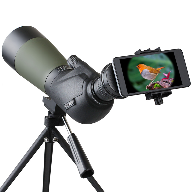 Suncore 15-45X60 monocular hunting telescope HD Holographic Spotting Scope Waterproof with Professional ultra compact tripod (2)