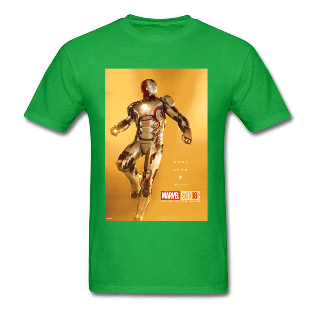 Tops Tees Marvel More Than A Suit Thanksgiving Day Short Sleeve Pure Cotton Round Neck Men Top T-shirts Casual Tshirts Prevalent More Than A Suit green