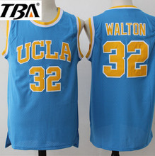 NEW 2017 Bill Walton Jerseys #32 UCLA College Basketball Jersey Blue Vintage Stitched Mens Cheap Basketball Throwback Shirt(China)