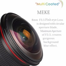 Buy Meike 8mm f/3.5 Wide Angle Fisheye Lens Nikon DSLR Cameras APS-C/Full Frame for $174.99 in AliExpress store