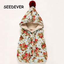 2016 New Children's Vest Thick Gilrs Winter Hoodies Hoody Coat for Girls Clothing Lamb Hooded  roupa infantil  Kids Clothes