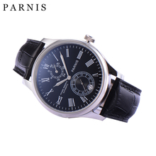 42mm Parnis Watch Automatic Men Watch Power Reserve Men's Mechanical Watch Seagull Movement Auto Date 3ATM montre parnis