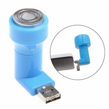 2-In-1 Mini Portable Micro USB & USB Shaver Men Electric Razor For Android Phone New Drop shipping(China)