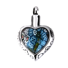 Flower Heart Funeral Keepsake Memorial Ash Urn Pendant Locket for Necklace(China)