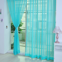 2017 New Design Multicolor 2 Pcs Sheer Voile Window Panel curtains DRAPE 200cm x 100cm
