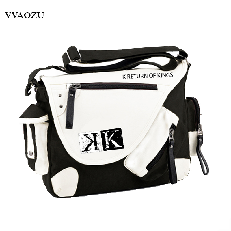 New Anime K Project Cosplay Messenger Bag Suoh Mikoto Mutifunctional Students Book Shoulder Bag<br>