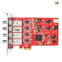 Quad tuner card!TBS6904 DVB-S/S2 Quad Tuner PCIe Card for Watching and Recording Digital Satellite FTA TV Channels on PC