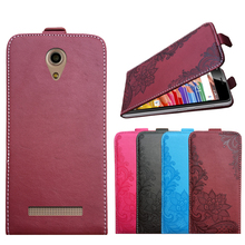 3D Stereo Embossing lace flower butterfly flip up and down leather phone bag cover case for Micromax Bolt Pace Q402