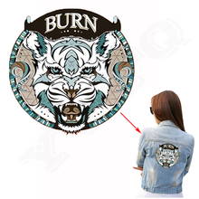Tigers Patch 20*20cm A-level Washable Heat Transfer Iron On Patches For Jeans T-Shirt Vintage Decoration Printing On Jackets
