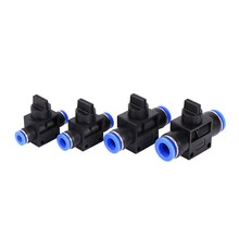 1 Pcs Pneumatic Push In Fittings Connector for Air/Water Hose & Tube Airline HVFF-6/8/10/12 Four Models Optional(China)