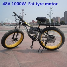 Fat tyre snow bike 26*4 inch rear spoke hub motor 48V 1000W G-M050
